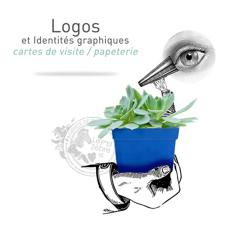 Création de logos et identités graphiques: cartes de visite, papèterie à Mâcon. Montage photo créé par Le P'tit Zèbre Communication
