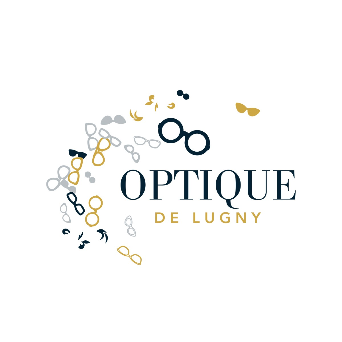 Réalisation logo Optique de Lugny par l'Agence Le P'tit Zèbre Communication à Mâcon