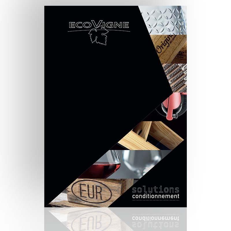 Réalisation du catalogue d'Ecovigne à Mâcon. Graphisme et catalogue