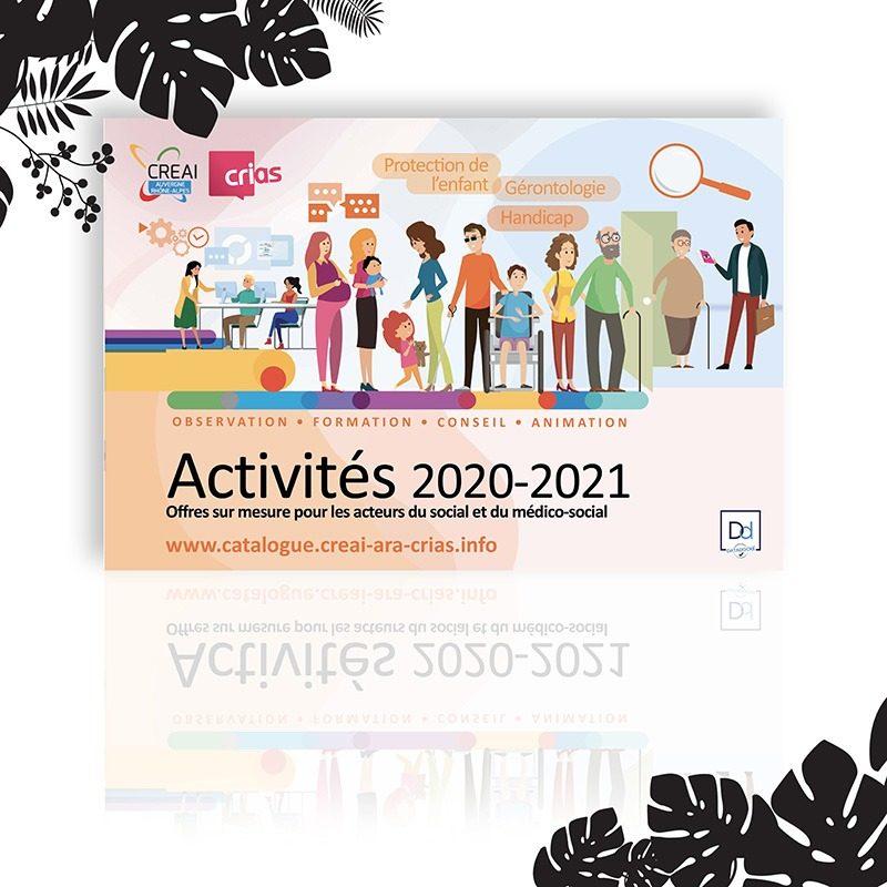 Réalisation du catalogue d'activités de l'année 2020-2021 pour la formation CREAI à Mâcon