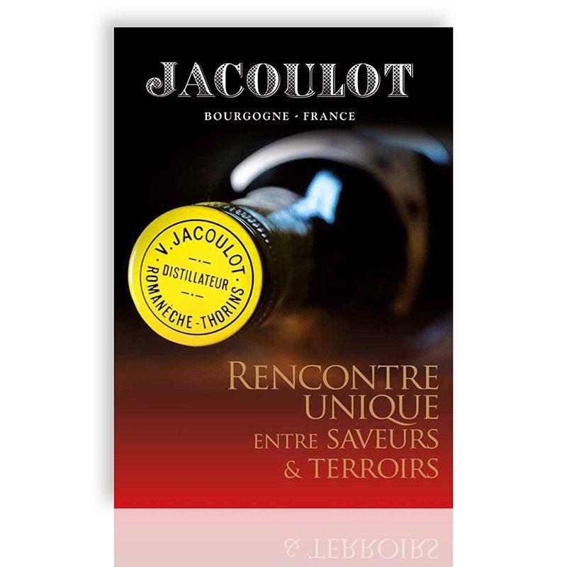 Réalisation d'un flyer A pour les liqueurs Jacoulot