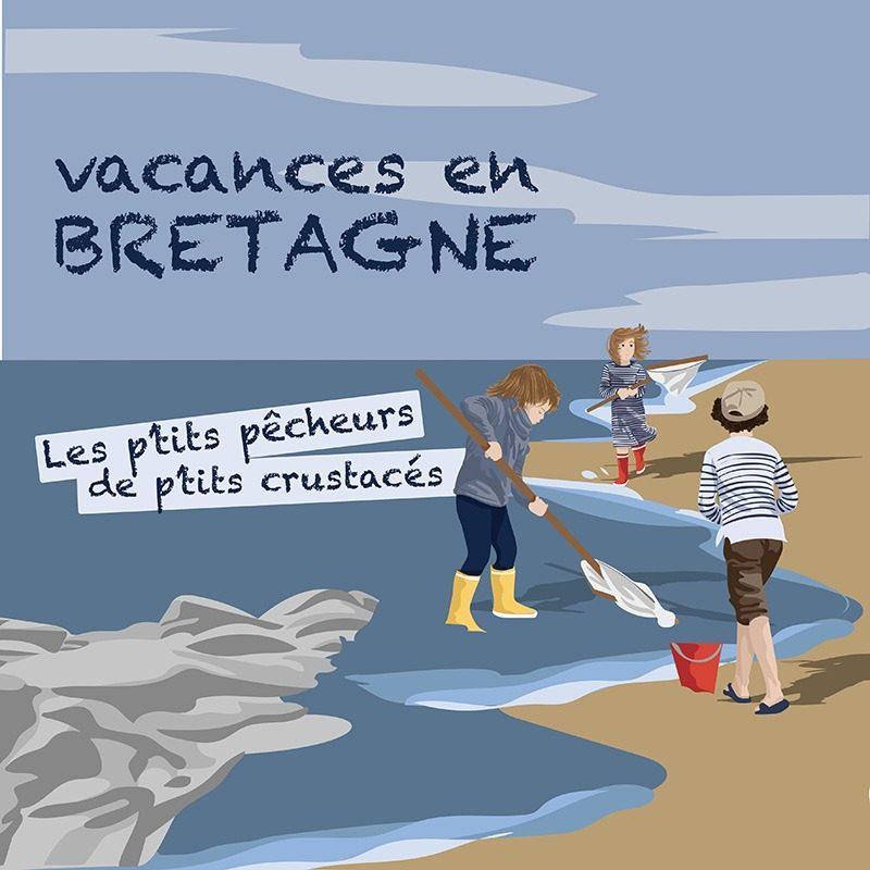 Réalisation d'une illustration vectorielle vacances en Bretagne par l'agence Le P'tit Zèbre Communication à Mâcon