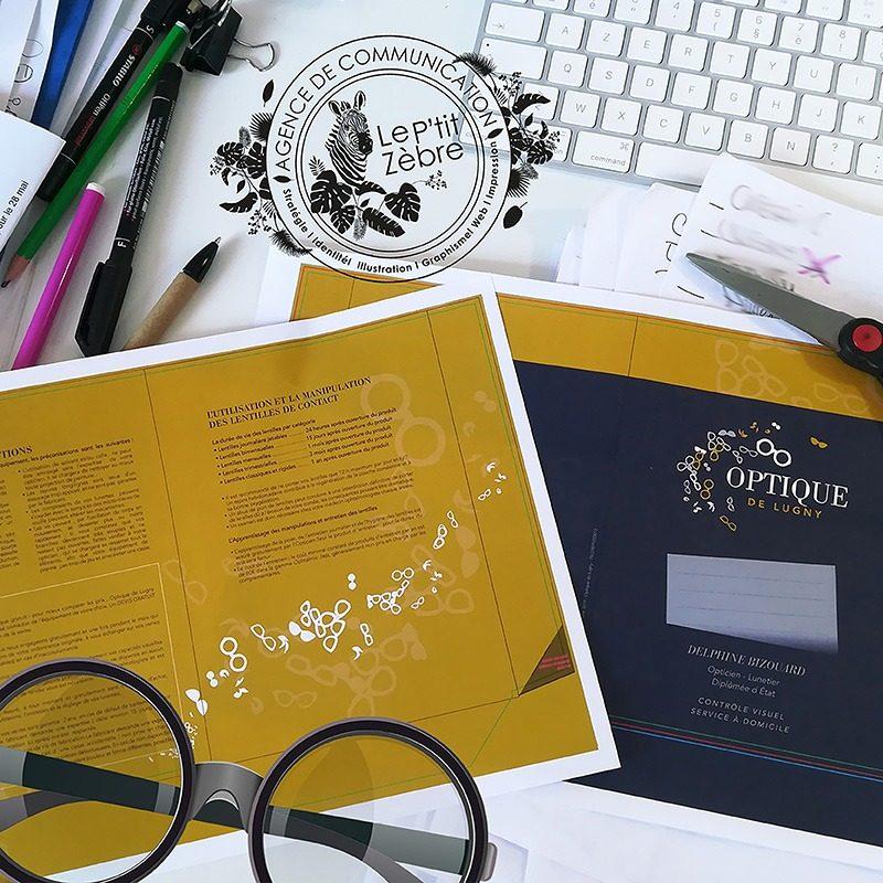 Réalisation de plaquettes de présentation pour la boutique Optique de Lugny à Mâcon
